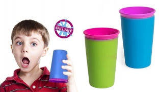 Wow Cup For Kids Innovative 360 Drinking Cup 266 ml - Pistache/Purple
