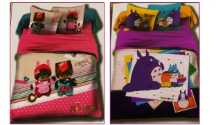 Set Of 3 Pcs Cartoon Printing Bedding Set For Kids 1 Pc Bed Duvet Cover, 1 Pc Bed Sheet and 1 Pc Pillowcase - Monchhich