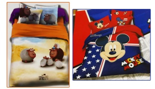 Set Of 3 Pcs Cartoon Printing Bedding Set For Kids 1 Pc Bed Duvet Cover, 1 Pc Bed Sheet and 1 Pc Pillowcase - Sheeps