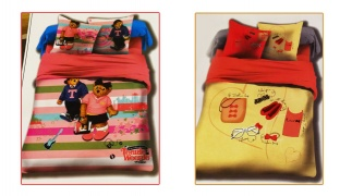 Set Of 3 Pcs Cartoon Printing Bedding Set For Kids 1 Pc Bed Duvet Cover, 1 Pc Bed Sheet and 1 Pc Pillowcase - Teenie Weenie Bears