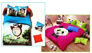 Set Of 3 Pcs Cartoon Printing Bedding Set For Kids 1 Pc Bed Duvet Cover, 1 Pc Bed Sheet and 1 Pc Pillowcase - I Love Panda