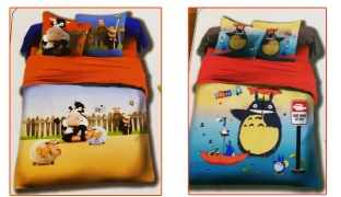 Set Of 3 Pcs Cartoon Printing Bedding Set For Kids 1 Pc Bed Duvet Cover, 1 Pc Bed Sheet and 1 Pc Pillowcase - Cow
