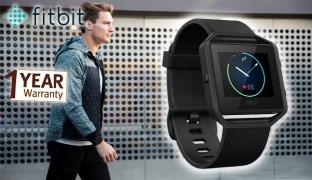 Fitbit Blaze Gunmetal Black Wireless Activity & Sleep Well Fitness Watch - Small