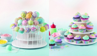 Sweet Creations 3-Tier Cupcake and Cake Pop Display Stand