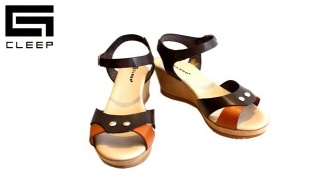 Cleep Rust & Chestnut Leather Sandal For Women - Size: 37