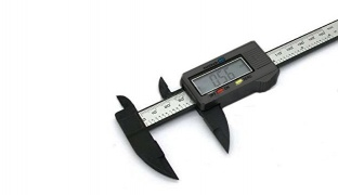 LCD Digital Electronic Carbon Fiber Measuring Vernier Caliper Gauge Ruler
