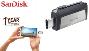 SanDisk Ultra Dual Drive USB Type-C For Android Devices & Computers - 16GB