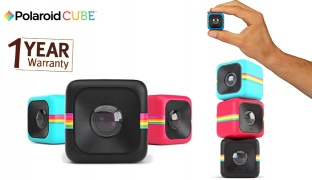 Polaroid Cube HD Lifestyle Mini Action Video Camera With a Free Waterproof Case - Blue