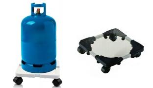 Adjustable Multi-purpose Trolly for Water Dispenser & Gas Bottle