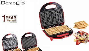 Domoclip 3 In 1 Gourmet grill waffle make