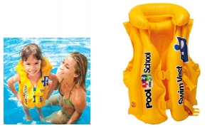 Inflatable Yellow Pool School Swimming Vest