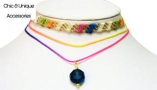 Chic & Unique Handmade Colorful Multilayer Choker For Women