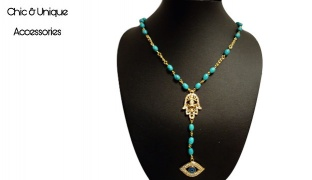 Chic & Unique Handmade Turquoise Stone Beads Necklace For Women