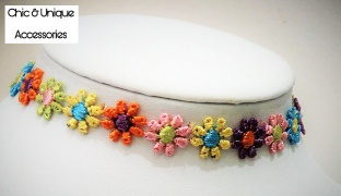 Chic & Unique Handmade Simple Colorful Floral Choker For Women