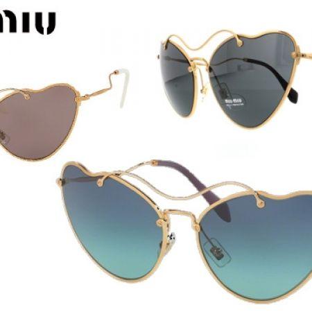 e8c3c01abe6 Miu Miu Sunglasses SMU 55RS 70E-3E2 - Antique Gold Frame With Grey Fade For  Women - Makhsoom