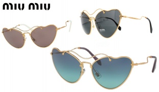 Miu Miu Sunglasses SMU 55RS 70E-3E2 - Antique Gold Frame With Grey Fade For Women