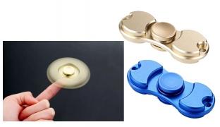 Metal Hand Spinner Fidget Toy - Blue