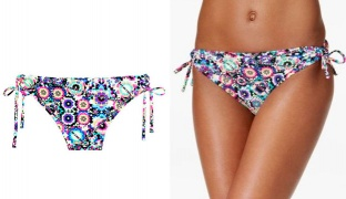 California Waves Rio Kaleidoscope Side-Tie Hipster Bikini Bottom Swimsuit For Women Size: XS