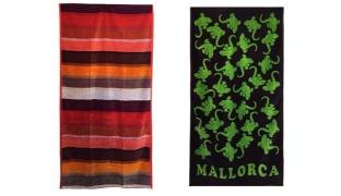 Jaquard Cotton Beach Towel - Green Gecko