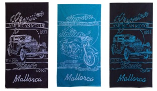 Jaquard Cotton Beach Towel - Lousary Motorcycle