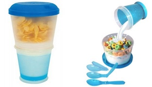 Cereal To Go Blue Cup