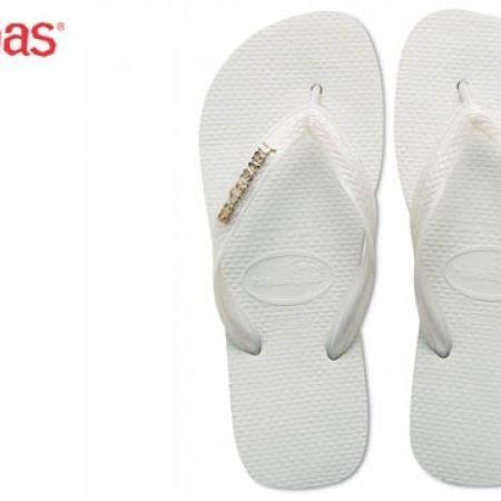 f30a4771a2aa1c Havaianas Top Logo Metallic Silver White Flip Flop For Women Size  41 -  Makhsoom