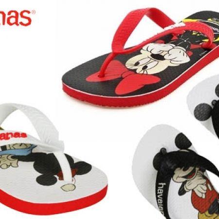 6e253777d846e Havaianas Disney Stylish Flip Flops For Kids - Mickey Mouse Black White -  Size  31 - Makhsoom