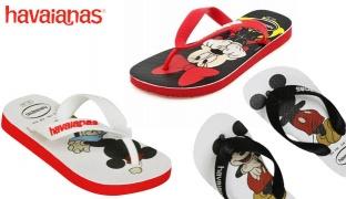 Havaianas Disney Stylish Flip Flops For Kids - Mickey Mouse Black/White - Size: 31