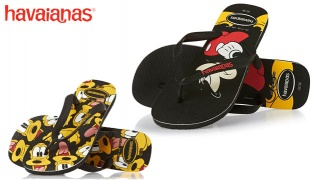 Havaianas Disney Stylish Flip Flops For Kids - Mickey Mouse Black/Ruby Red - Size: 31