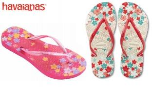 Havaianas Slim Garden Flip Flops For Kids Size: 31 - Pop Rose