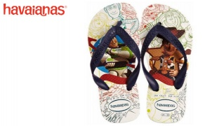 Havaianas Toy Story White & Navy Blue Flip Flops For Kids Size: 33