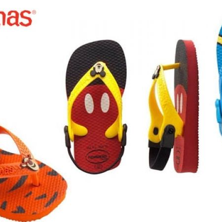 4fc1d75bf17a Havaianas Baby Disney Classics Flip Flops For Kids - Mickey Mouse Ruby Red  - Size  17 - Makhsoom