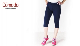 Comodo Lightweight Jogging Wear Pants Short For Women - Black - Small