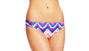 California Waves Colorful Tie-Dye Side-Tab Bikini Bottom Swimsuit For Women Size: Small