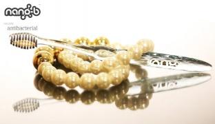 Nano-b Charcoal & Gold Toothbrush - Pink