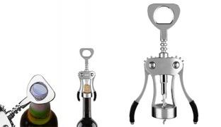Stainless Steel Wine & Beer Bottle Opener Wing Corkscrew
