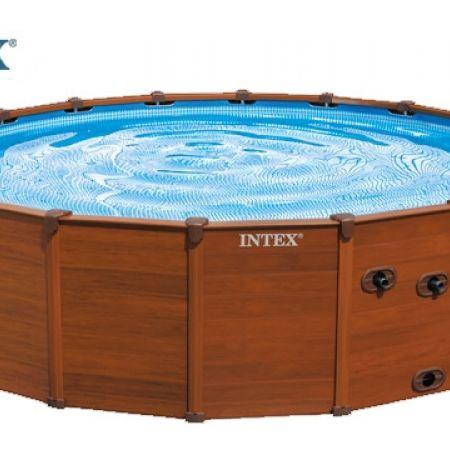 intex sequoia spirit wood frame pool 569 x 135 cm makhsoom. Black Bedroom Furniture Sets. Home Design Ideas