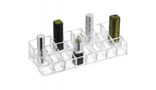 Design Acrylic Cosmetic Organizer For Lipstick 24 Parts