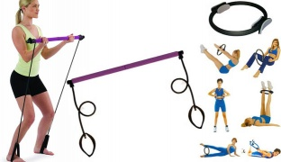 Empower Portable Pilates Studio With A Free Workout DVD & Pilate Ring