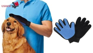Pet Grooming Glove Brush