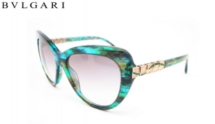 Bvlgari Cat Eye Sunglasses BV 8143B 5340/BE Green Aqua Fantasy Frame With Grey Green Shaded Fade For Women