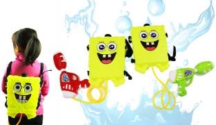 Spongebob Plastic Backpack Water Gun - Green