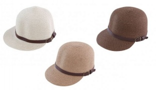 Straw Stylish Summer Hat With Bucklet For Women - White