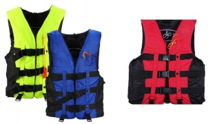 Universal Professional Swimming Life Jacket For Adult One Size With Whistle - Blue