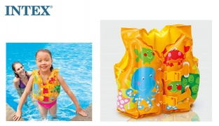 Intex Inflatable Tropical Buddies Swim Vest 41 x 30 cm