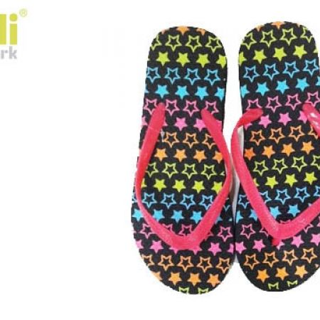 c356adcab3f146 Capelli New York Colorful Stars Patterns Jelly Thong Flip Flops For Women