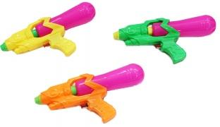 Set Of Water Shoot Plastic Gun 2 Pcs - Green