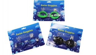 Adjustable Advanced Swimming Goggles With Ear Plugs & Nose For Kids - Blue