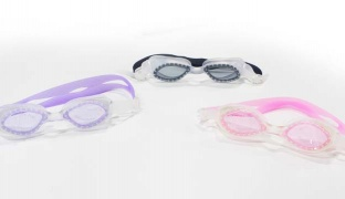 Sainteve Ajustable Silicone Strapy Swimming Goggles For Kids - Purple