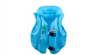 Inflatable Blue Pool School Step C Life Jacket For Kids